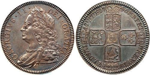 1 Крона(англійська) Королівство Великобританія (1707-1801) Срібло Георг II (1683-1760)