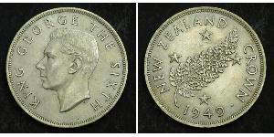 1 Крона(англійська) Нова Зеландія Срібло Георг VI (1895-1952)