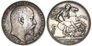 1 Крона(англійська) Сполучене королівство Великобританії та Ірландії (1801-1922) Срібло Едвард VII (1841-1910)