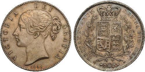 1 Крона(англійська) Сполучене королівство Великобританії та Ірландії (1801-1922) Срібло Вікторія (1819 - 1901)