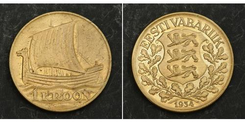 1 Крона Estonia (Republic) Бронза