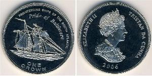 1 Крона Трістан-да-Кунья Нікель/Мідь Єлизавета II (1926-)