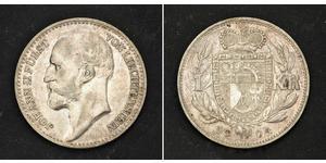 1 Крона Лихтенштейн Серебро Johann II, Prince of Liechtenstein (1840-1929)