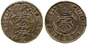 1 Крона / 4 Марка Дания Серебро Фредерик III (король Дании) (1609 -1670)