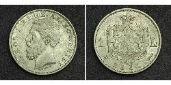 1 Лей Королевство Румыния (1881-1947) Серебро Кароль I (1839 - 1914)