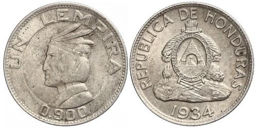 1 Лемпіра Гондурас Срібло