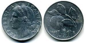1 Лира Италия Алюминий