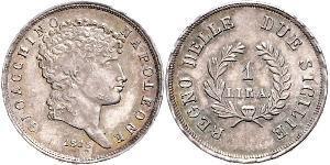 1 Лира Италия Серебро