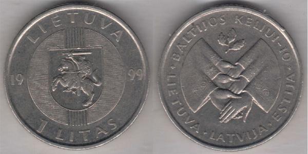 1 Лит Литва (1991 - ) Никель/Медь