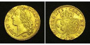 1 Луидор Королевство Франция (843-1791) Золото Людовик XV (1710-1774)