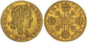 1 Луидор Королевство Франция (843-1791) Золото Людовик XIII, король Франции и Наварры (1601 - 1643)