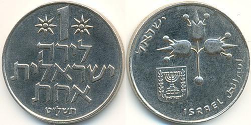 1 Ліра Ізраїль (1948 - ) Нікель/Мідь