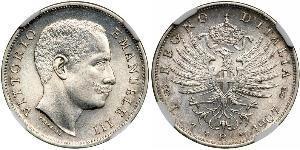 1 Ліра Kingdom of Italy (1861-1946) Срібло Виктор Эммануил III (1869 - 1947)