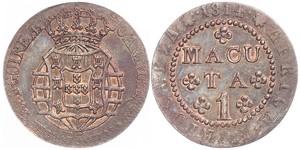 1 Макута  Portuguese Angola (1575-1975) Мідь