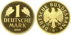1 Марка Федеративная Республика Германия (1990 - ) Золото