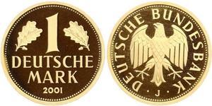 1 Марка Федеративна Республіка Німеччина (1990 - ) Золото