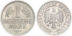 1 Марка ФРГ (1949-1990) Никель/Медь