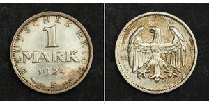 1 Марка Веймарская республика (1918-1933) Серебро