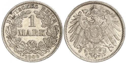1 Марка Німецька імперія (1871-1918) Срібло