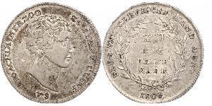 1 Марка Федеральні землі Німеччини Срібло