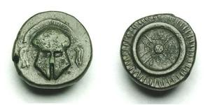 1 Обол Древняя Греция (1100BC-330) Серебро
