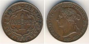 1 Пайса Восточная Африка Бронза Виктория (1819 - 1901)