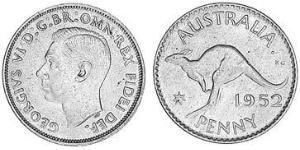 1 Пенни Австралия (1939 - ) Бронза