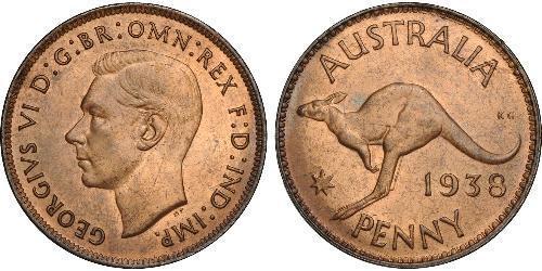 1 Пенни Австралия (1939 - ) Бронза Георг VI (1895-1952)