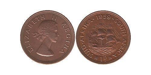 1 Пенни Южно-Африканская Республика Бронза Елизавета II (1926-)