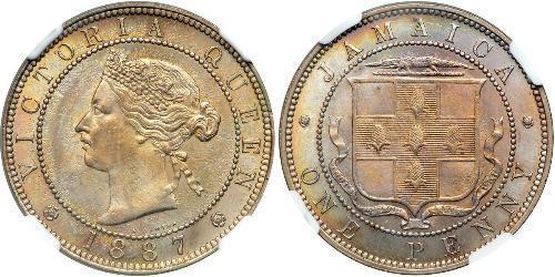 1 Пенни Ямайка (1962 - ) Никель/Медь Виктория (1819 - 1901)