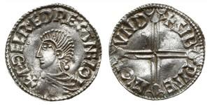 1 Пенни Королевство Англия (927-1649,1660-1707) Серебро Aethelred II (968 - 1016)
