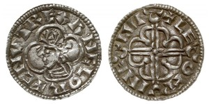1 Пенни Королевство Англия (927-1649,1660-1707) Серебро Cnut (985 -1035)
