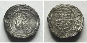 1 Пенни Королевство Англия (927-1649,1660-1707) Серебро Елизавета I (1533-1603)