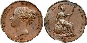1 Пенни Соединённое королевство Великобритании и Ирландии (1801-1922)  Виктория (1819 - 1901)