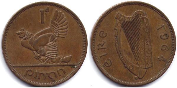 1 Пені Ірландія (1922 - ) Бронза