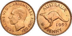 1 Пені Австралія (1939 - ) Бронза Георг VI (1895-1952)