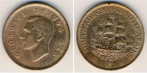 1 Пені Південно-Африканська Республіка Бронза Георг VI (1895-1952)