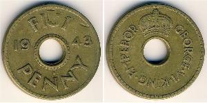 1 Пені Фіджі Латунь Георг VI (1895-1952)