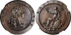 1 Пені Королівство Великобританія (1707-1801) Мідь Георг III (1738-1820)
