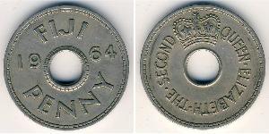 1 Пені Фіджі Нікель/Мідь Єлизавета II (1926-)