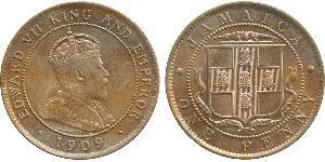 1 Пені Ямайка (1962 - ) Нікель/Мідь Едвард VII (1841-1910)