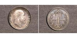 1 Пені Велика Британія  Срібло Едвард VII (1841-1910)