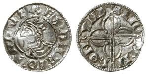 1 Пені Королівство Англія (927-1649,1660-1707) Срібло Cnut (985 -1035)