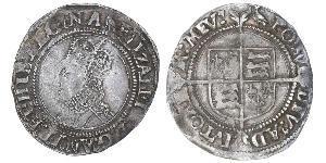 1 Пені Королівство Англія (927-1649,1660-1707) Срібло Єлизавета I (1533-1603)