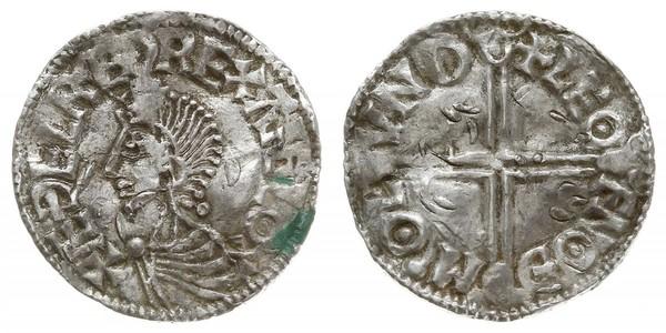 1 Пені Королівство Англія (927-1649,1660-1707) Срібло Aethelred II (968 - 1016)