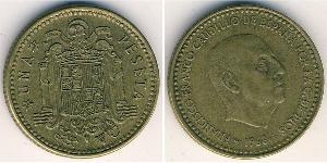 1 Песета Francoist Spain (1936 - 1975) Бронза