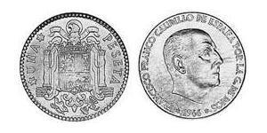 1 Песета Francoist Spain (1936 - 1975) Бронза/Алюміній Франциско Франко(1892 – 1975)