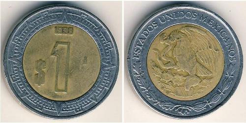 1 Песо Соединённые Штаты Мексики (1867 - ) Биметалл
