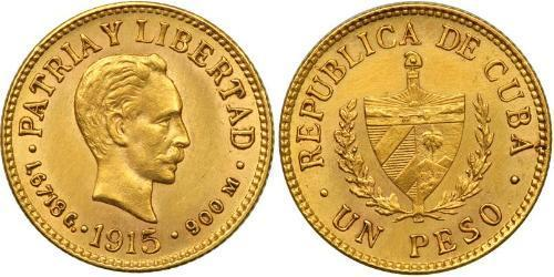 1 Песо Куба Золото