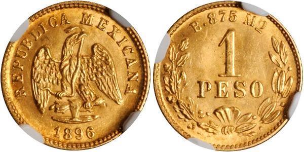 1 Песо Мексиканські Сполучені Штати (1867 - ) Золото